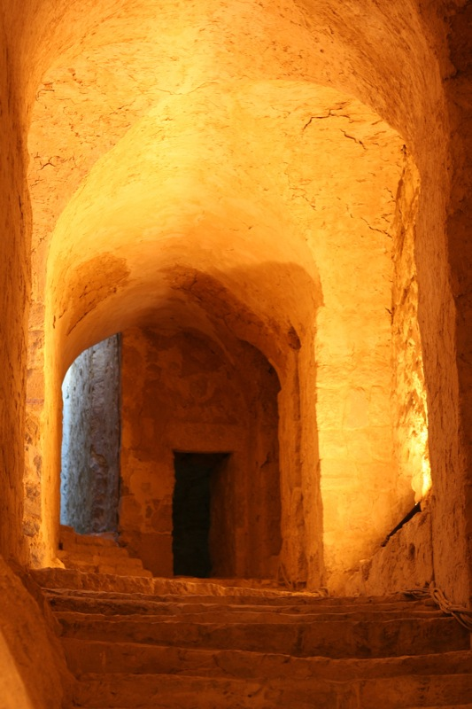 Tunnels inside Fort